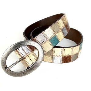 Fossil Patchwork Belt Leather Size S